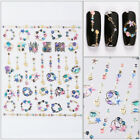 1Sheet Galaxy Nail Art Transfer Stickers 3D Decals Manicure Decoration Tips Xmas
