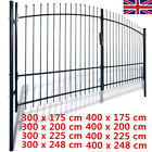 Metal Garden Double Door Fence Gate With Spear Top Wall Grille Gate Fencing Lock