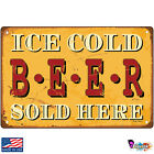 Ice Cold Beer Sold Here Retro Signs & Plaques