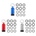 Mini Diving Tank with Keychain 12pcs O Rings and Brass Pick Dive Repair Kit