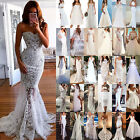 Kyпить Womens Lace White Bridesmaid Wedding Formal Prom Evening Party Ball Gown Dresses на еВаy.соm