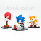 Sega Sonic The Hedgehog PVC figure 3 pcs set Knuckles Tails Play toy Gift Kids