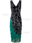 1920s Flapper Dress Gatsby Wedding Party Layered Tassel Cocktail Dress Vintage