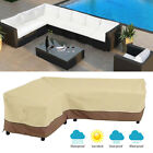 Outdoor Garden Patio Furniture Cover Protector L-Shape Sofa Cover Waterproof