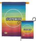 Lovewins Support Victory Of Marriage Equality Love Won Garden House Yard Flag $17.05 USD on eBay