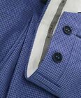 $425 CANALI - Light Blue Summer Check Plaid Wool Flat Front Dress Pants - 33W