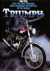 Triumph Motorcycles Poster $13.4 CAD on eBay