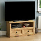 Corona TV Unit Entertainment Cabinet Display Storage Stand Solid Waxed Pine