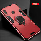 For Huawei Y9 2019 Y6 Pro 2019 Magnetic Ring Holder Hybrid Armor Case Cover