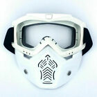 Detachable Safety Face Mask Goggles Anti-UV Wind Dust Glare Work Protect Glasses