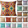 Bohemian Geometric Cotton Linen Sofa CarPillow Case Cushion Cover Home Decor