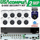 Q-SEE SECURITY CAMERA SYSTEM 8 CH 2TB DVR 1080P 2MP DOME WEATHER-VANDAL