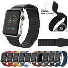Magnetic Leather Loop Band For Apple Watch Series 4 3 2 1 42mm 38mm 44mm 40mm US image