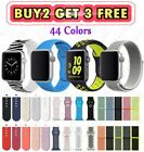 Silicone Nylon Sport Band Strap for Apple Watch Series 5 4 3 2 1 38/40mm 42/44mm image
