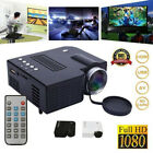 Mini HD 1080P Portable Multimedia LED Projector Home Cinema Theater USB TF HDMI