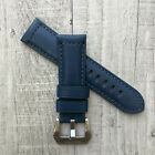 For Panerai PAM Luminor Marina 22/20mm 24/22mm Blue Leather Watch Strap Band