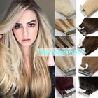 tape in hair extensions 100 remy human hair 16 18 20 22 seamless reusable