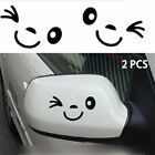 Luggage Decor Car Stickers Luggage Sticker  Side Mirror Rearview 3D Smile Face
