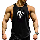 Gym Men's Muscle Sleeveless Tank Top T-Shirt Bodybuilding Sport Fitness Vest US