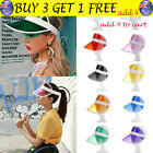 Summer Casual Men Women Neon Hat Sun Visor Golf Sport Tennis Headband Caps TH