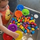 Counting Bears With Stacking Cups - Montessori Color Sorting Matching Game Toys