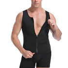 Kyпить Men Zipper Neoprene Sauna Vest Ultra Sweat Shirt Body Shapers Slimming Tank Top на еВаy.соm