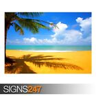 TREE BEACH SIDE (3272) Beach Poster - Picture Poster Print Art A0 A1 A2 A3 A4