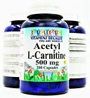 Acetyl L-Carnitine 500mg Energy - Metabolism - Burns Fat Fast 200 Capsules NEW $15.95 USD on eBay
