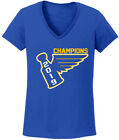 V-NECK Ladies St. Louis Blues Stanley Cup 2019 Champions Champs Shirt $15.99 USD on eBay