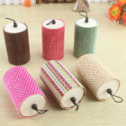 2Pcs Cylinder Handmade Straw Woven Box Basket with Lid Makeup Organizer Holder