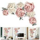 Nice Peony Flowers Mural Art Wall Decals Removable Pvc Sticker Home Decor Us