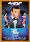 James Bond Never Say Never Again Classic Movie Poster Art Print A1 A2 A3 A4 Maxi £8.0 GBP on eBay