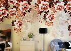 3D Noble Gorgeous Flowers Self-adhesive Removable Wallpaper Feature Wall Mural 1