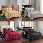 3 Pcs Duvet Cover Set Pillow Shams Zippered Soft Hypoallergenic Queen King Size image