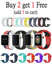 Silicone Bracelet Band Strap Sports Bands For Apple Watch iWatch Series 1/2/3/4 image