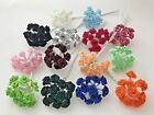 1/2' Satin Ribbon Roses Flowers Wire Stem Small Assorted Colors 144 pieces New