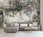 3D Retro Rose Flower Self-adhesive Removable Wallpaper Feature Wall Mural 58