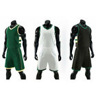 Mens Plain Running Basketball Jersey Kit Uniforms Sport Athletic Game Suits