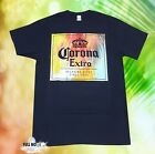 New Corona Extra Beer Sunset Palm Trees Men's Vintage T-Shirt image