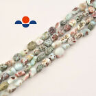 "Natural 5-8mm Larimar Nugget Gemstone Loose Beads Approx 15.5"" Long per Strand"