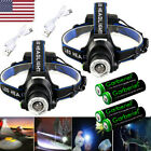 550000Lumen T6 LED Zoomable Headlamp USB Rechargeable 18650 Headlight Head Light