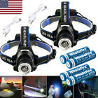 420000Lumen T6 LED Zoomable Headlamp USB Rechargeable 18650 Headlight Head Light