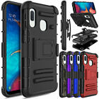 For Samsung Galaxy A10e Shockproor Armor Case Cover With Belt Clip Kickstand