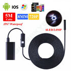 Kyпить 2-5M WIFI Endoscope Borescope HD Inspection Snake Camera For Android на еВаy.соm