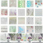 3D Static Cling Frosted Stained Flower Glass Window Film Sticker Privacy Home