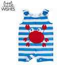 LITTLE WISHES Striped Crab Romper - CHOOSE SIZE!