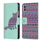 HEAD CASE PATTERNED ANIMAL SILHOUETTES LEATHER BOOK CASE FOR APPLE iPHONE PHONES