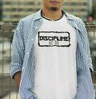 Discipline Kanji T-shirt JAPANESE Inspired Motivational Mens Unisex Top S - XXL