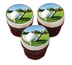 15 x Golf Themed Edible Cupcake Toppers Icing Decoration Clubs Course Hole Flag