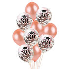 10PCS Rose Gold 18 21st 30 40 50 60th Happy Birthday Crown Balloons Party Decor